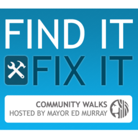 RESCHEDULED: Mayor Ed Murray Visiting Crown Hill and Whittier Heights for Find It Fix It Community Walk