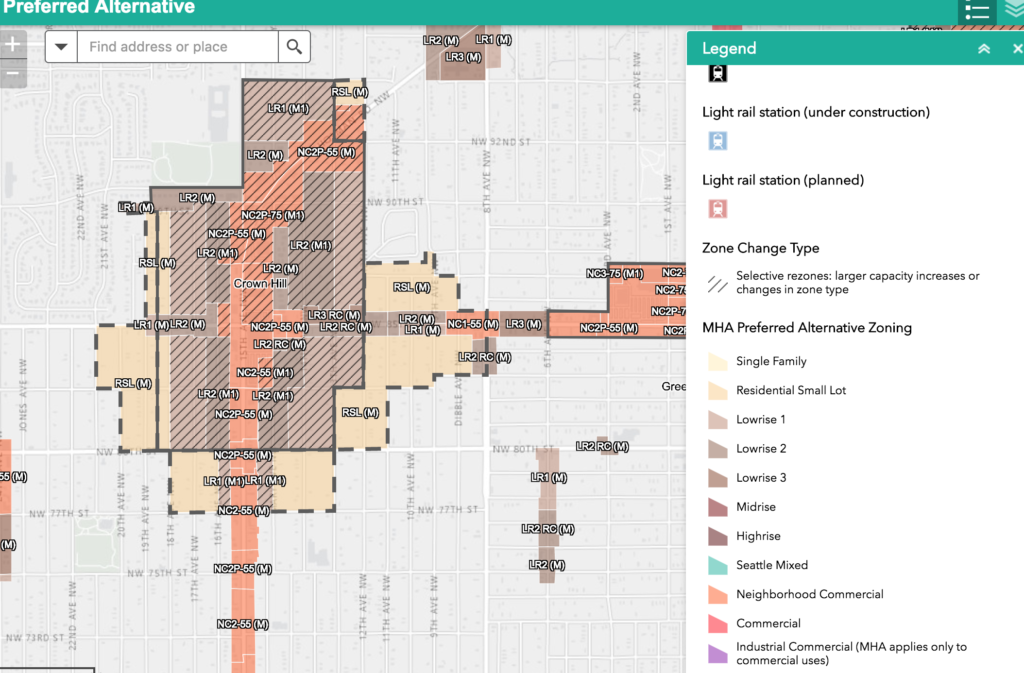 view an interactive map of the proposed zoning changes here choose preferred alternative map