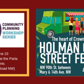 June Events:  Community Planning and our NEW Street Festival